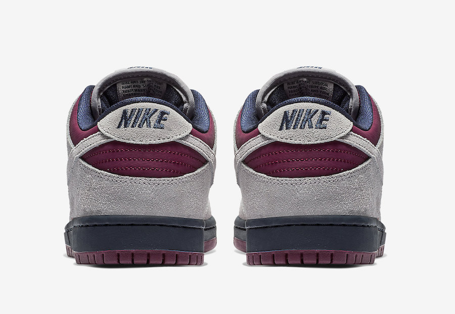 Nike SB Dunk Low Burgundy Grey BQ6817-001 Release Date