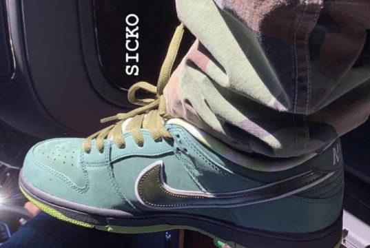 Nike SB Dunk Low Green Lobster Concepts Travis Scott