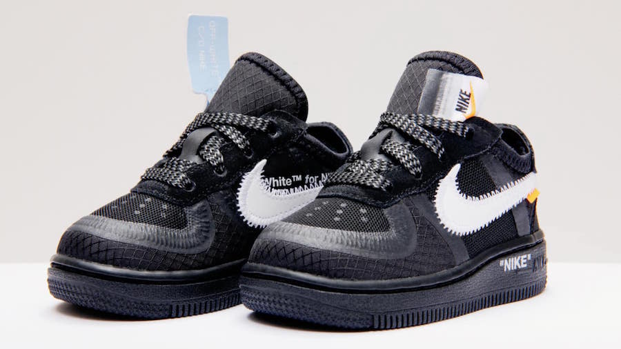 Off-White Nike Air Force 1 Kids Sizing Black Release Date
