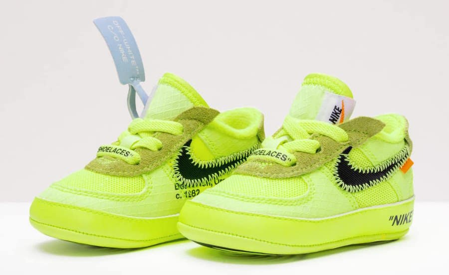 hot sale online 7fea0 ee8ef Off-White Nike Air Force 1 Kids Sizing Release Date ...
