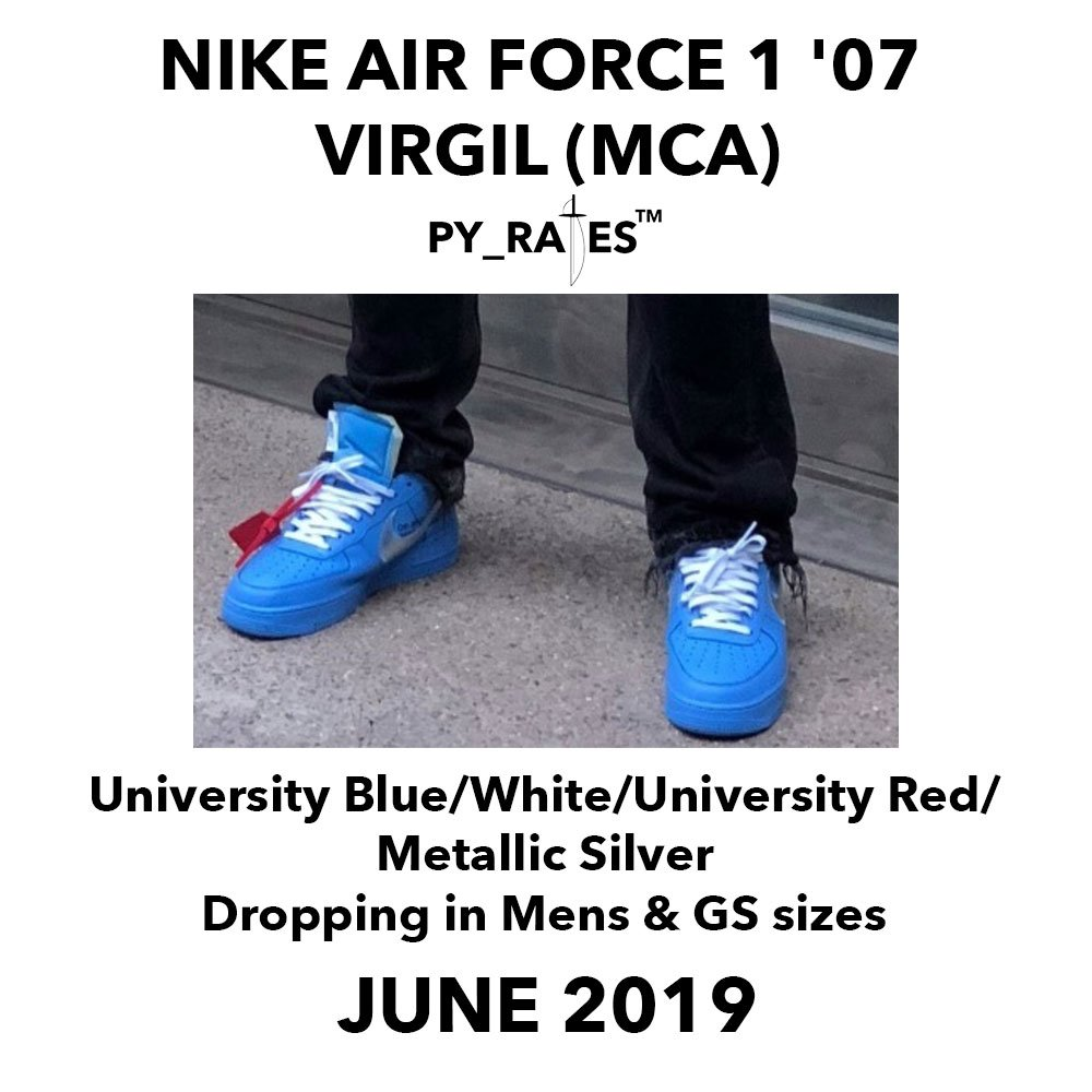 Off-White Nike Air Force 1 Low University Blue Release Date