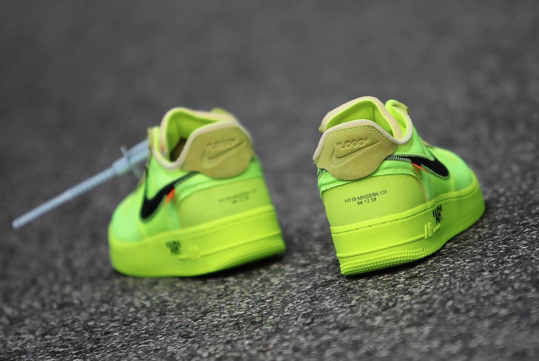 Off-White Nike Air Force 1 Volt AO4606-700 Release Date