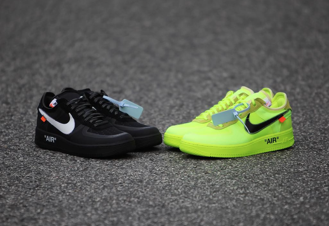 Off White Nike Air Force 1 Volt AO4606 700 Black AO4606 001