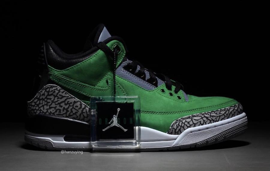 114e243b21b Oregon Ducks Air Jordan 3 Tinker PE AJ3-867493 | SneakerFiles