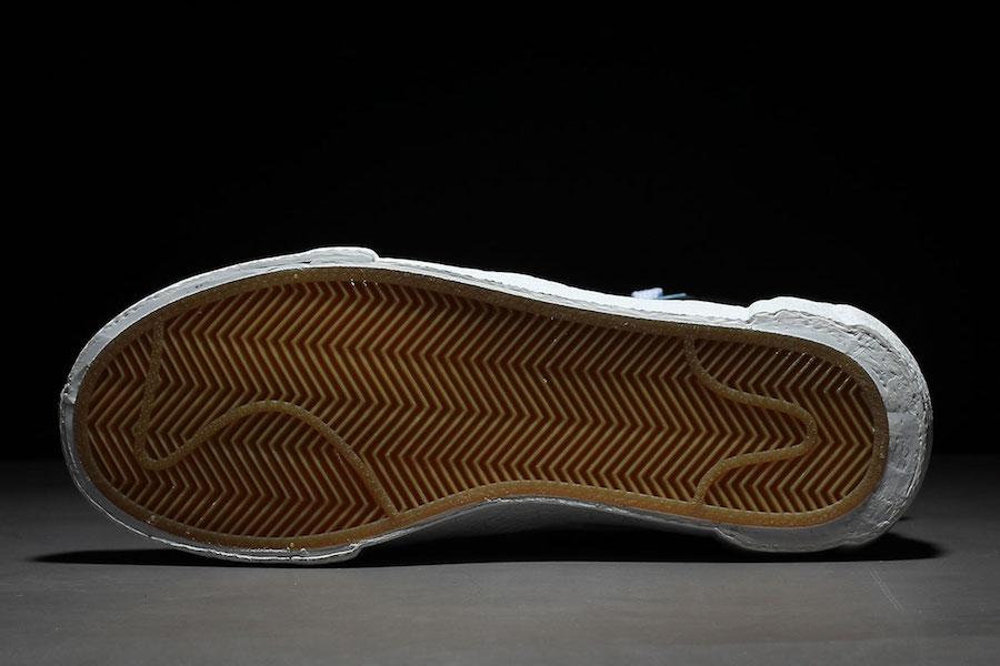 Sacai Nike Blazer Mid Blue BV0072-001 Release Date