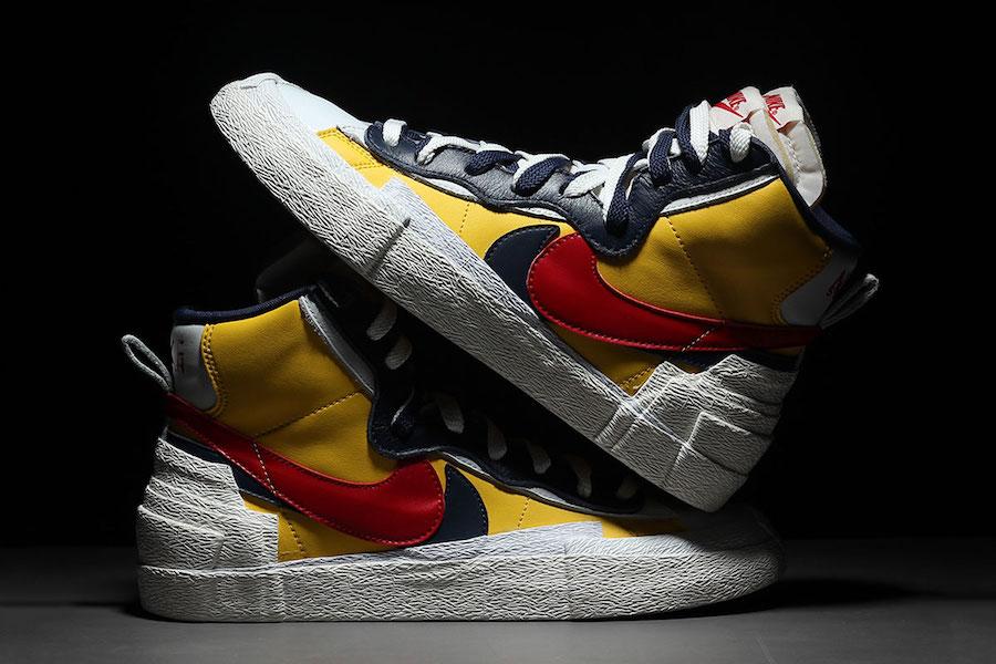 Sacai Nike Blazer Mid Yellow BV0072-700 Release Date