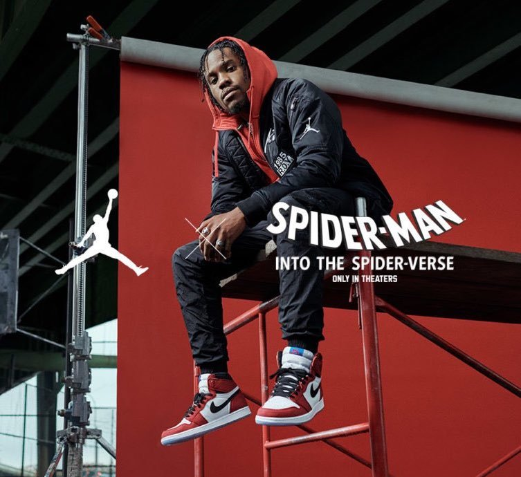 Spider-Man Air Jordan 1 Origin Story Spider-Verse