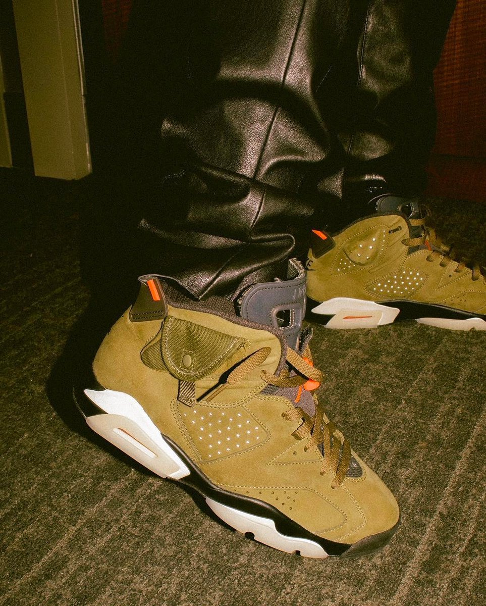 Travis Scott Air Jordan 6 Medium Olive Release Date