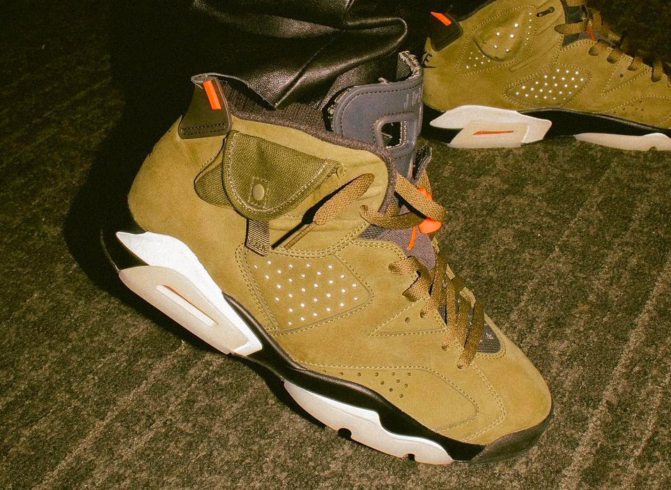 Travis Scott Air Jordan 6 Medium Olive Release Date Info