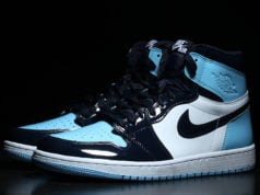 UNC Patent Air Jordan 1 Obsidian Blue Chill White CD0461-401