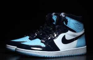 UNC Patent Air Jordan 1 Obsidian Blue Chill White CD0461-401