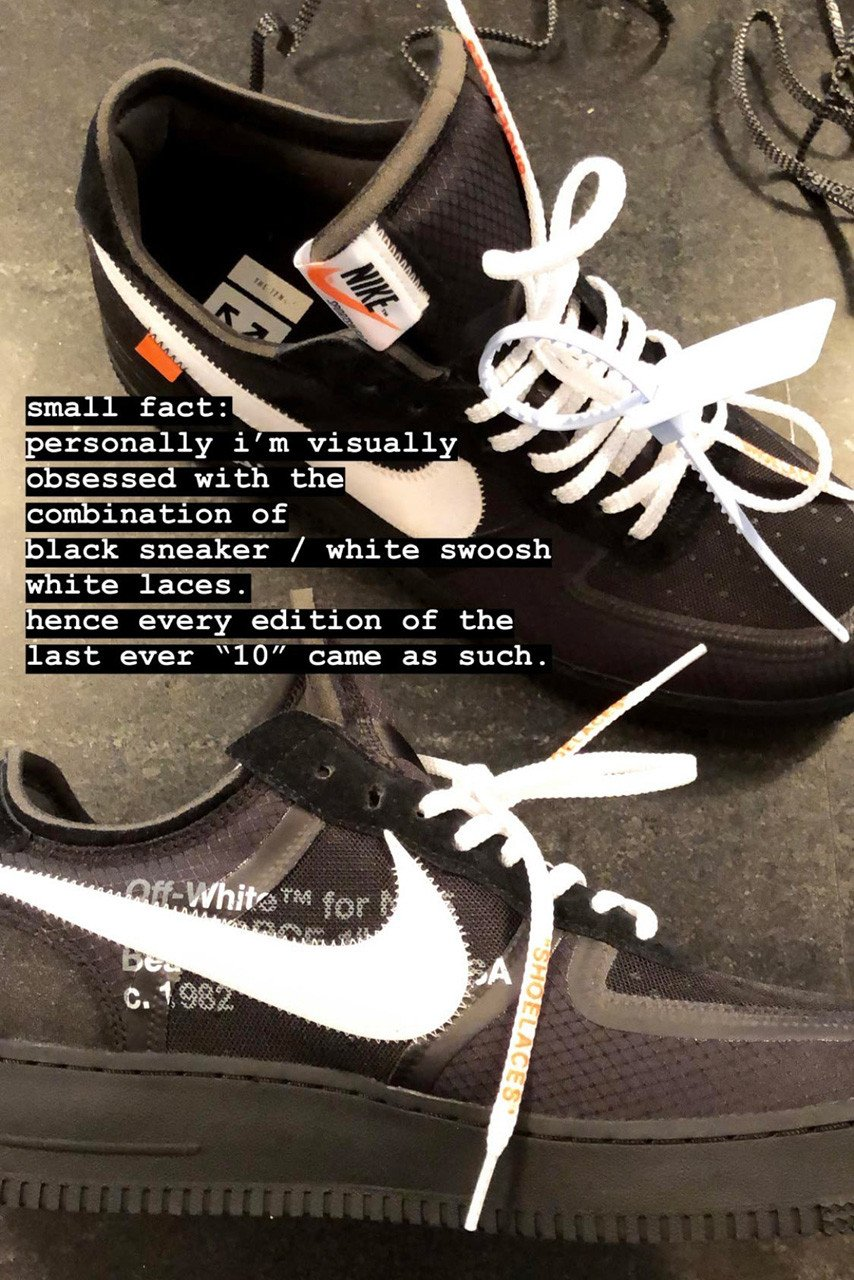 Virgil Abloh Off-White The Ten Ending