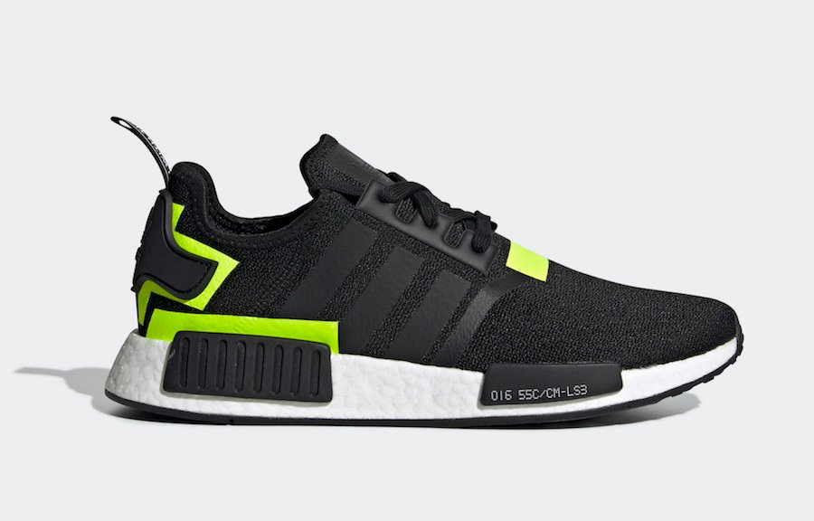 87452e9c596a5 adidas NMD R1 Black Volt BD7751 Release Date