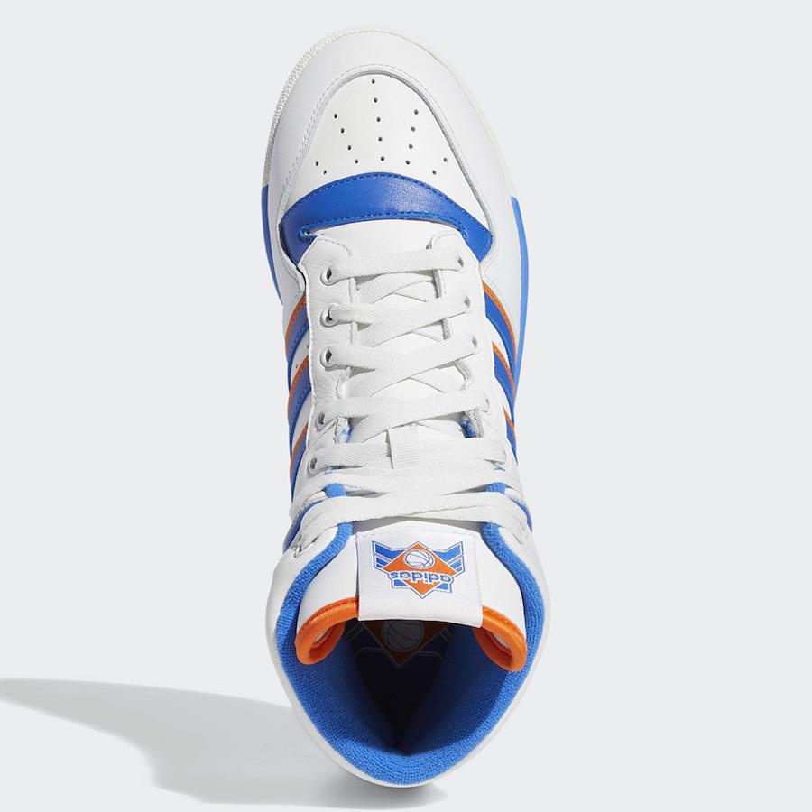 adidas Rivalry Hi Knicks White Blue Orange F34139 Release Date