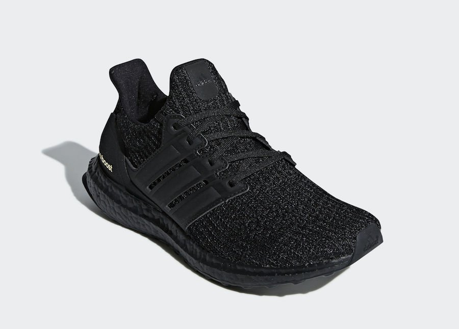adidas Ultra Boost 4.0 Triple Black Gold F36123 Release Date