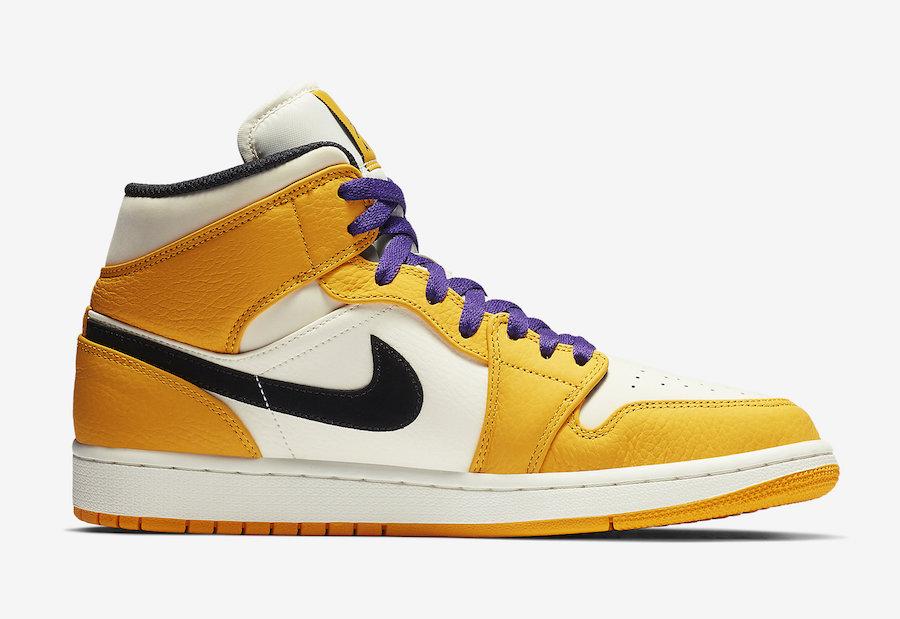 Air Jordan 1 Mid Lakers 852542-700 Release Date