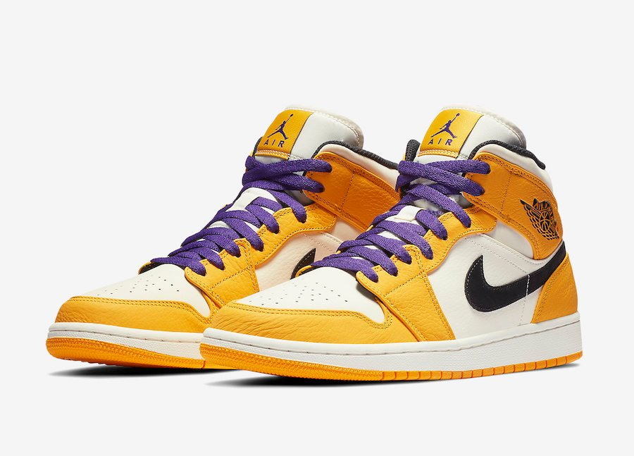 the best attitude 2c75a a8259 Air Jordan 1 Mid Lakers 852542-700 Release Date | SneakerFiles