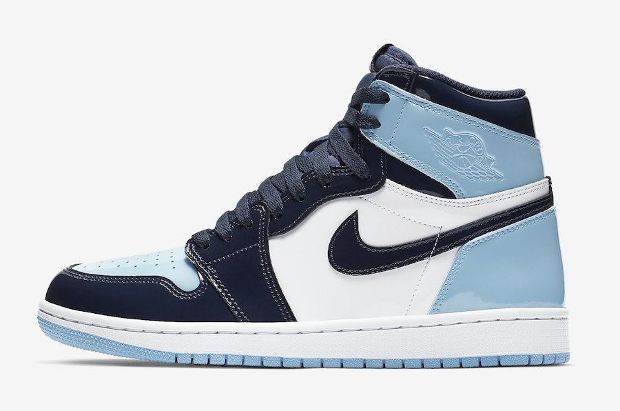 Air Jordan 1 UNC Patent Leather Blue Chill February Release Date