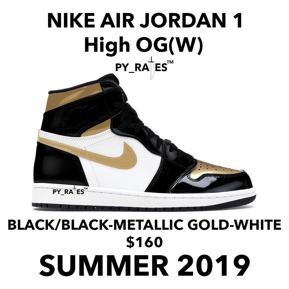 Air Jordan 1 Womens Gold Toe 2019 Release Date Price