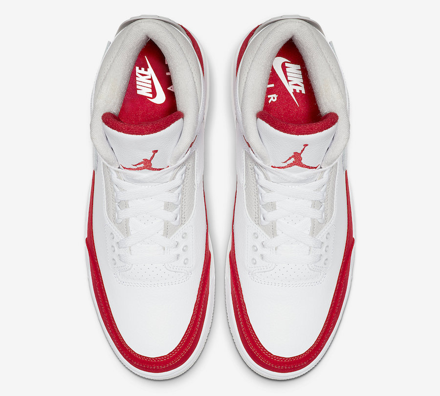 Air Jordan 3 Tinker White University Red CJ0939-100 Release Date Price