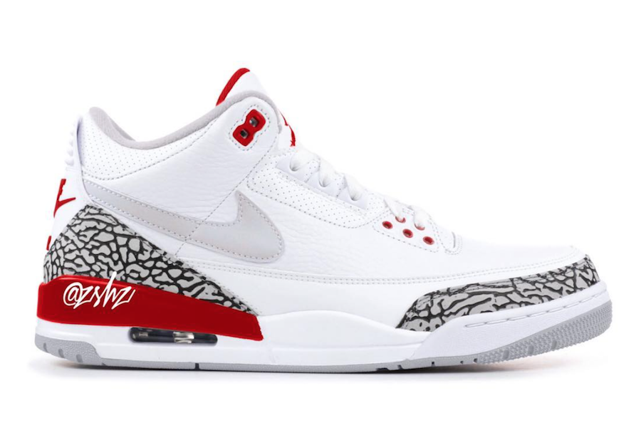 finest selection 77044 3efaa Air Jordan 3 Tinker White University Red CJ0939-100 Release Date
