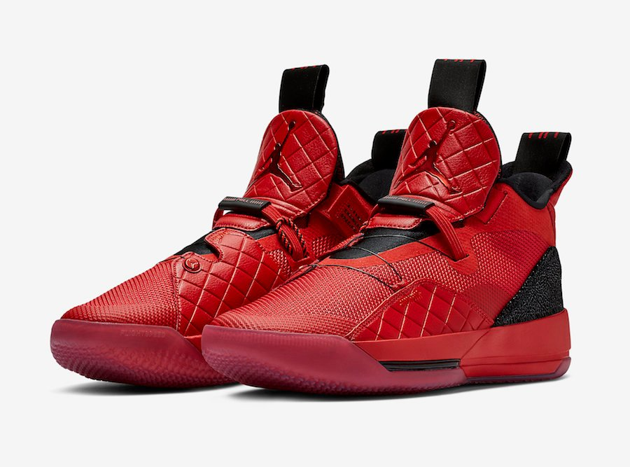 Air Jordan 33 University Red Black Sail White AQ8830-600 Release Date