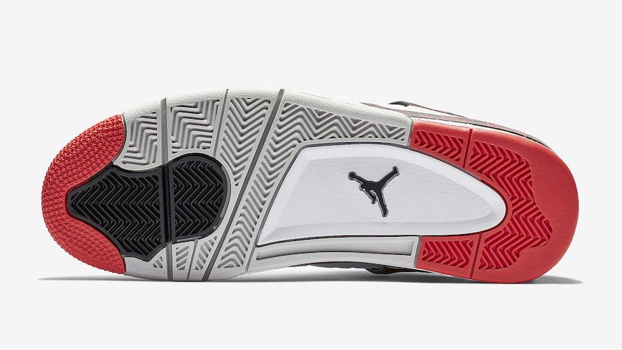 Air Jordan 4 Flight Nostalgia White Bright Crimson 308497-116 Release Date