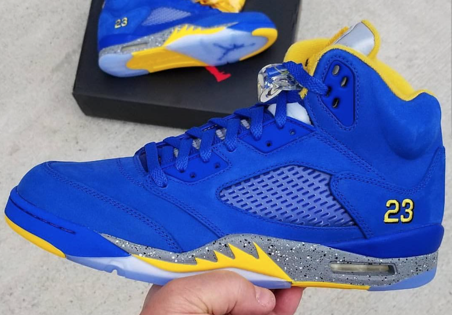 newest df13c 63bc2 Air Jordan 5 Laney Varsity Royal 2019 Release Date