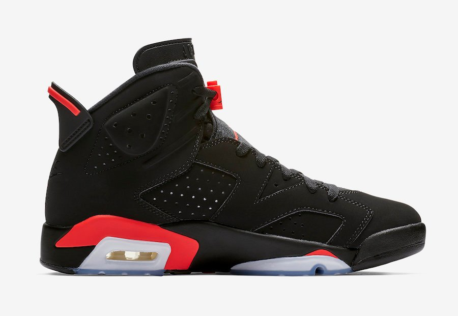 big sale 204da d74d9 Air Jordan 6 Black Infrared 2019 Retro 384664-060 Release Date Info