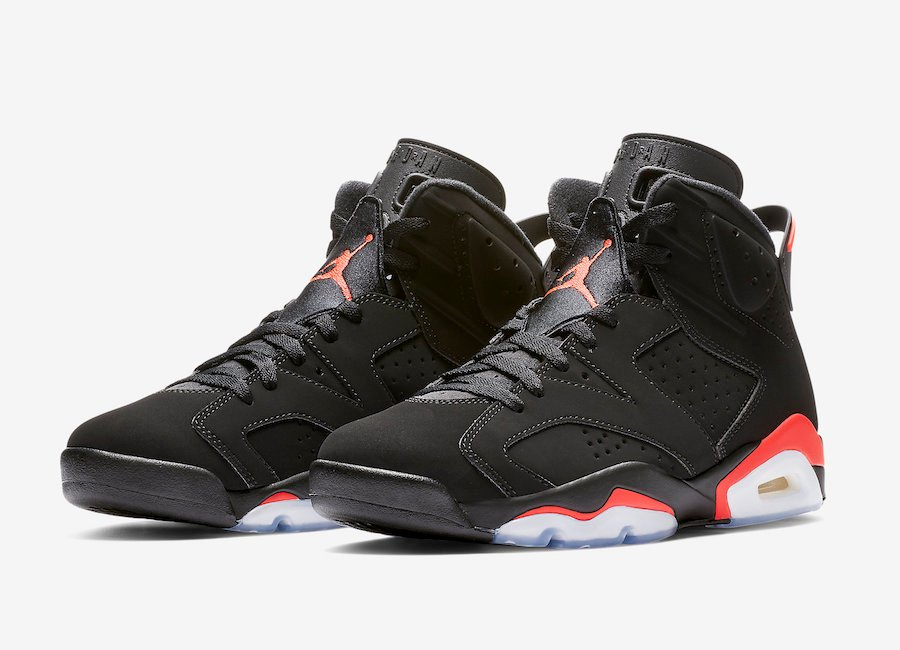 big sale 172b3 65759 Air Jordan 6 Black Infrared 2019 Retro 384664-060 Release Date Info