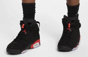 Air Jordan 6 OG Black Infrared On Feet