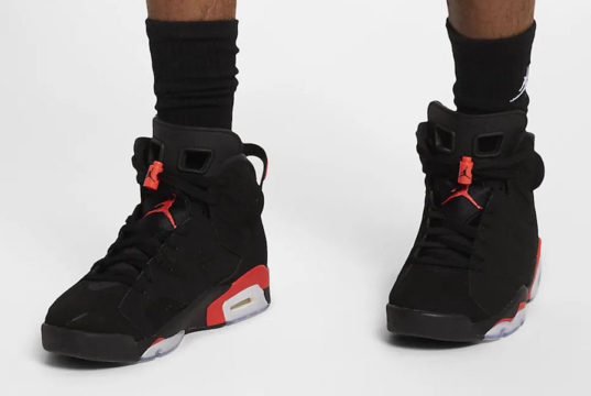Air Jordan 6 OG Black Infrared On Feet