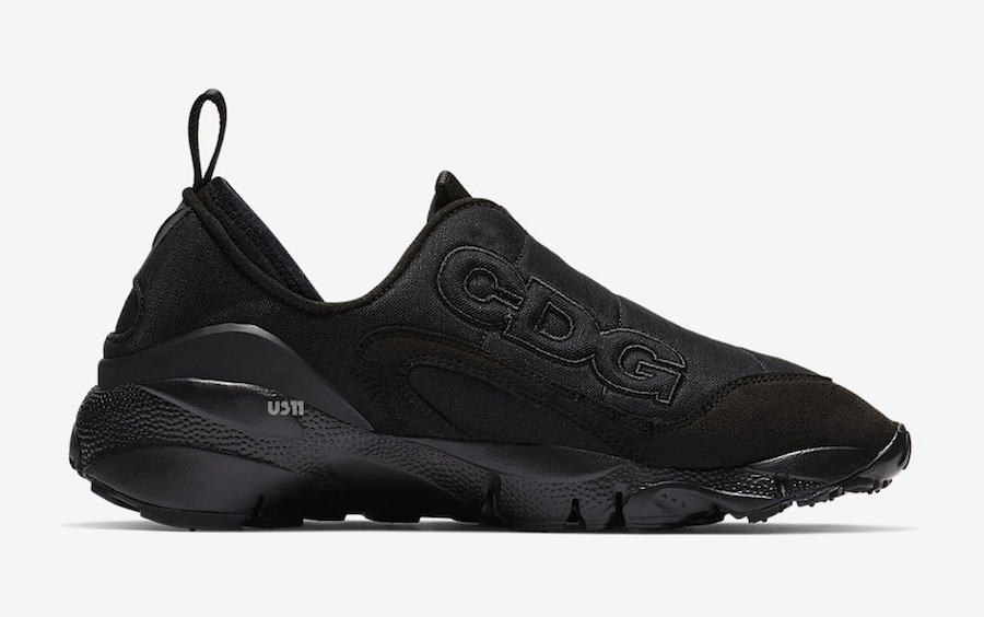 Comme des Garcons Nike Air Footscape Black Release Date