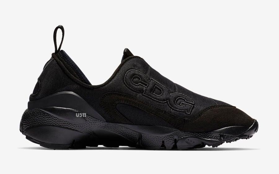 Comme des Garcons Nike Air Footscape Black Release Date