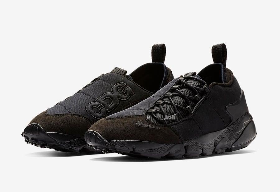plus récent b2966 92977 Comme des Garcons x Nike Air Footscape Black Release Date ...