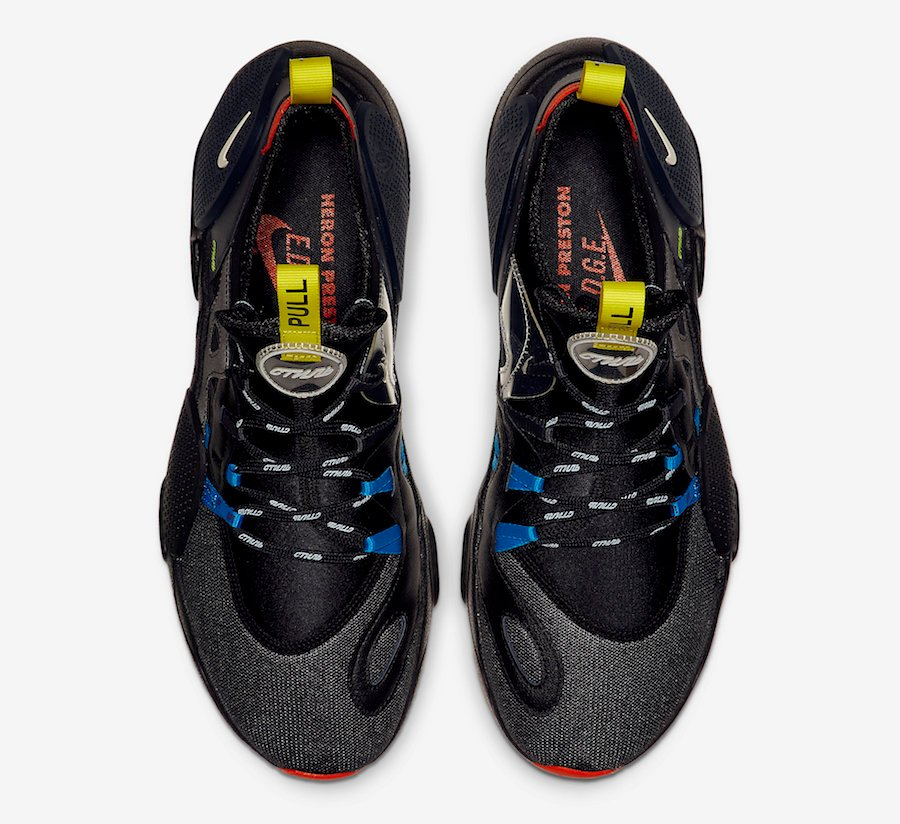 Heron Preston Nike Huarache EDGE Black CD5779-001 Release Date