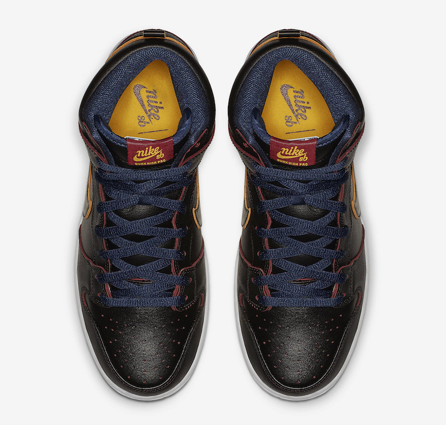 NBA Nike SB Dunk High Cleveland Cavaliers BQ6392-001 Release Date