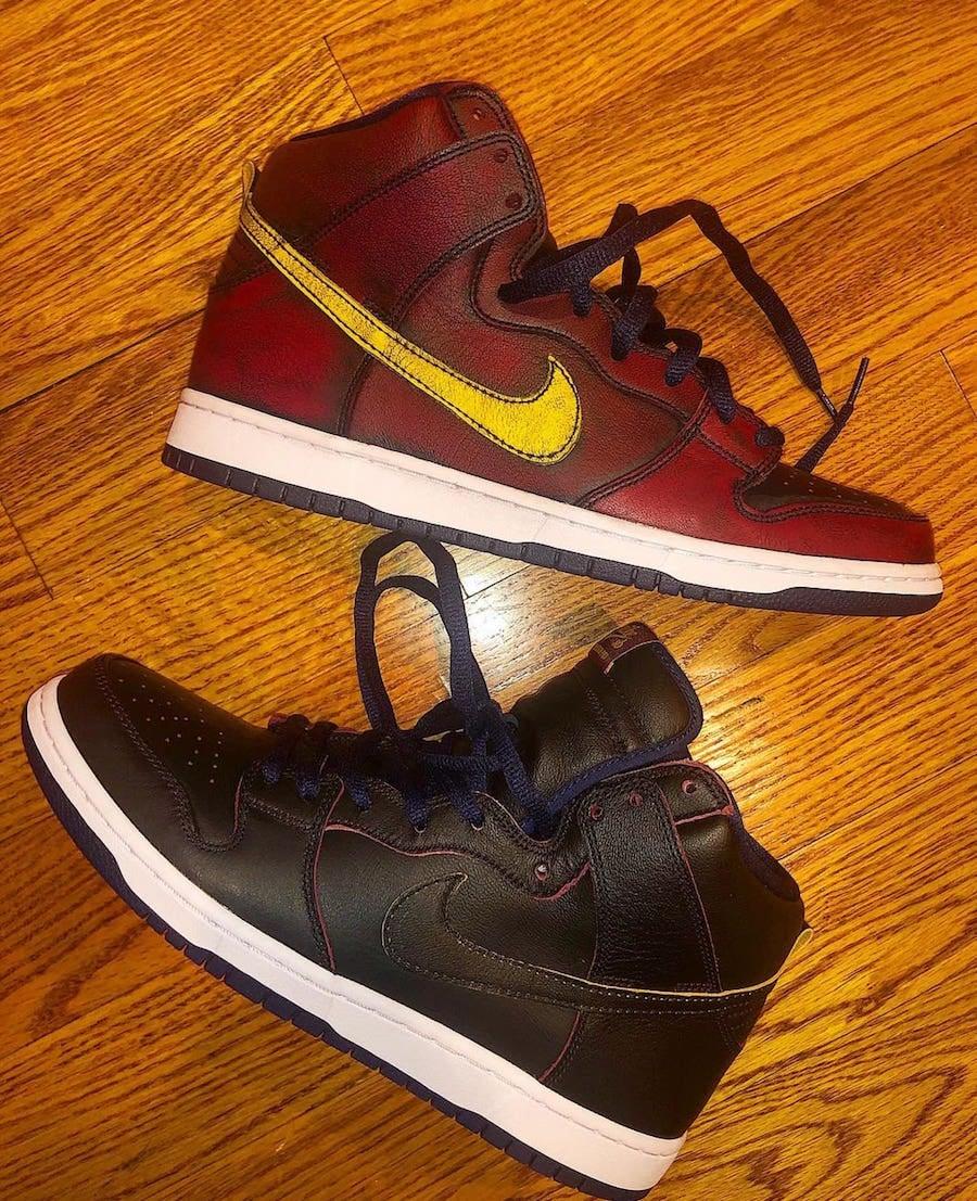 NBA Nike SB Dunk High Cleveland Cavaliers Release Date