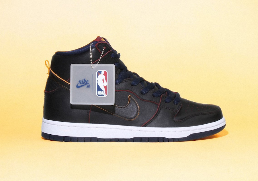 NBA Nike SB Dunk High Wear-Away Leather Pack Release Date