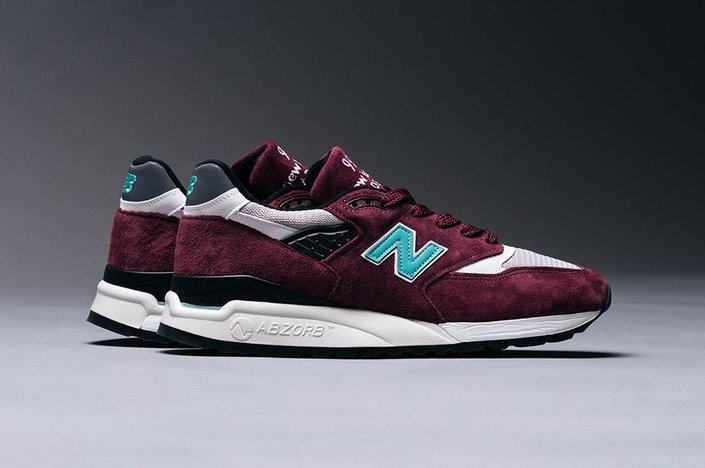 New Balance 998 Burgundy Teal Release Date