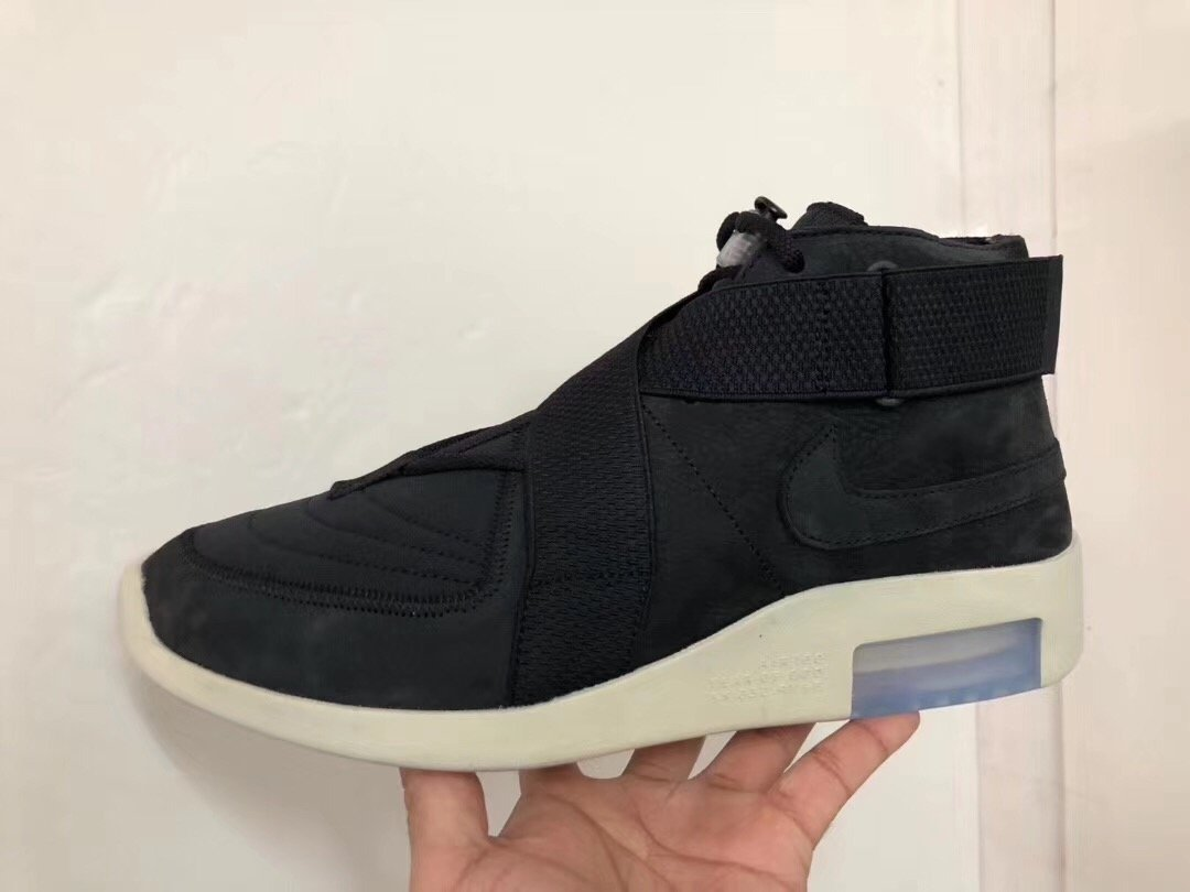 Nike Air Fear of God Moccasin Black Criss Cross Straps