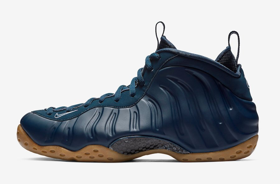 Nike Air Foamposite One Midnight Navy Gum 314996-405 2019 Release Date