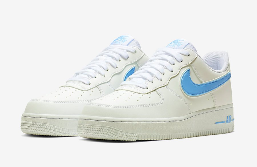 Nike Air Force 1 07 3 White University Blue AO2423 100