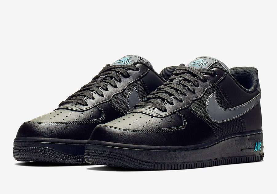 premium selection c8c27 1a8ce Nike Air Force 1 Low Black Light Blue BV1278-001 Release Date
