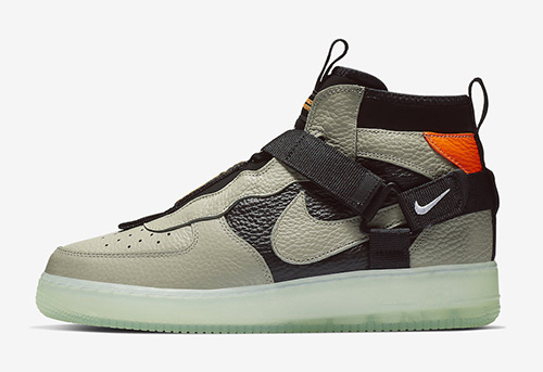 Nike Air Force 1 Mid Utility Spruce Fog Black Frosted Spruce AQ9758-300