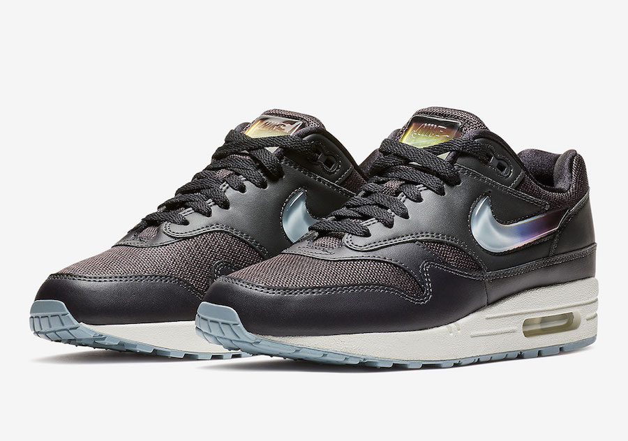 Nike Air Max 1 Jewel Swoosh AT5248-001 AT5248-500 AT5248-100 Release ... f56de764fae1