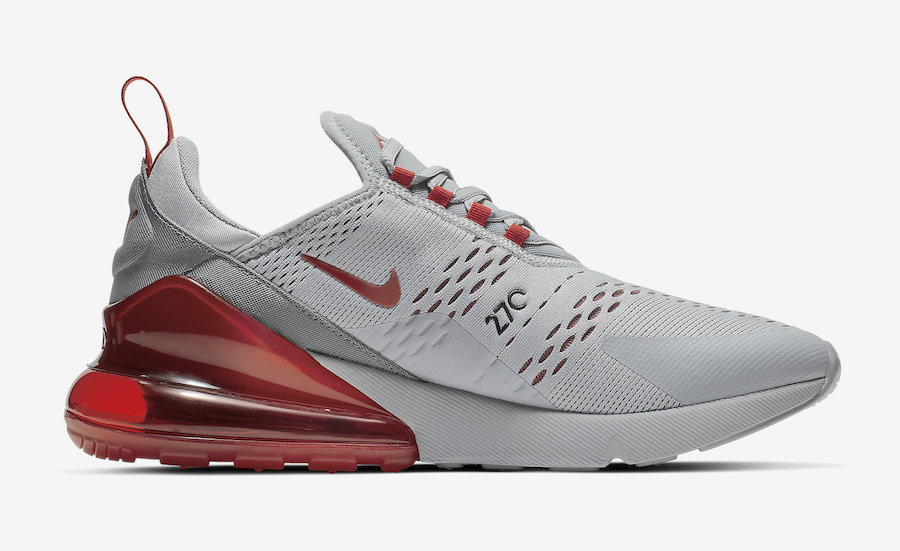Nike Air Max 270 Wolf Grey University Red AH8050-018 Release Date
