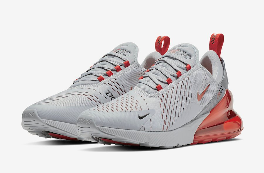 best website 40eee 88dd7 Nike Air Max 270 Wolf Grey University Red AH8050-018 Release Date