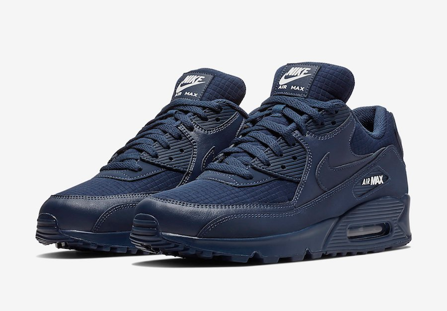 2d3943d950f Nike Air Max 90 Essential Midnight Navy AJ1285-404 | SneakerFiles
