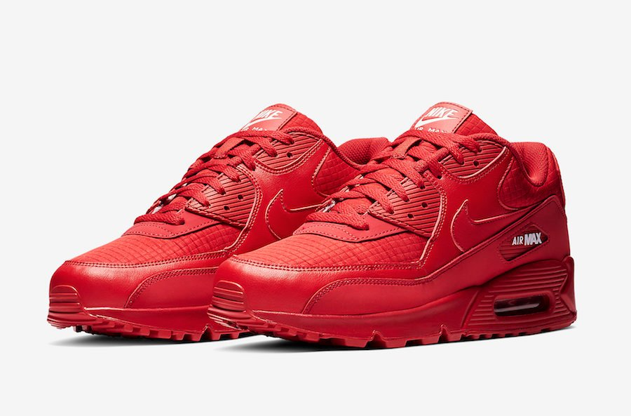 Nike Air Max 90 Essential University Red AJ1285-602 Release Date ...